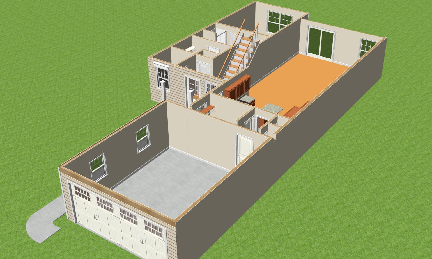 Bedford II - 3D First Floor Interior