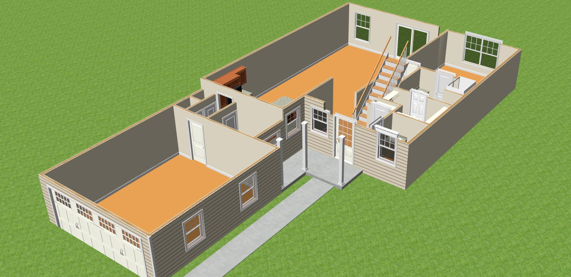 Bedford - 3D First Floor Interior